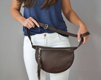 Leather Fanny Pack, Leather Pocket Belt,  Fanny Pack Leather, Hip Bag, Leather Pouch, Belt bag, Fanny Pack, Leather Woman Bag NR 7