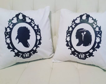 Labyrinth inspired pillow covers sarah and jareth