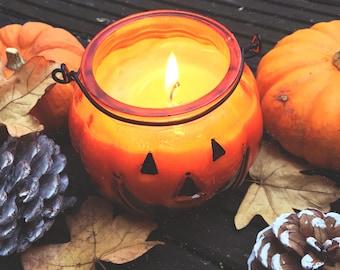Handmade Pumpkin Soy Wax Lantern
