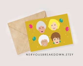 golden girls birthday card