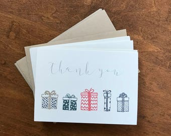 Thank You Present Cards Set of 6