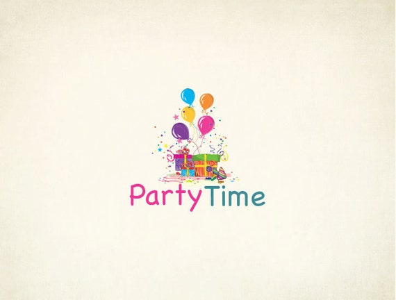 Custom Party Logo Design Birthday Party