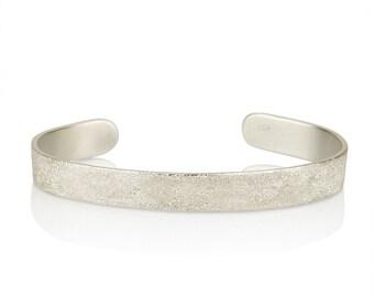 Sterling Silver Cuff Bracelet,Sterling Silver Bangle, Silver Bangle Bracelet,sparkle jewelry, textured bracelet