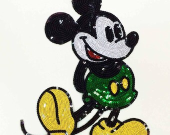 Large Sequin Patch Mickey Mouse Patch Disney Patch 070