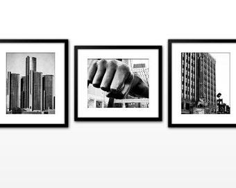 Detroit Photo Series - Black and White - Metallic Print