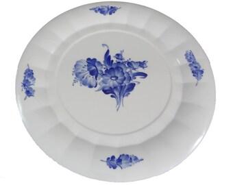 Round 15 inch Platter in Blue Flowers by Royal Copenhagen, Denmark