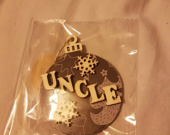 Christmas bauble uncle