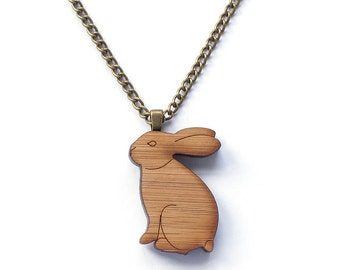 Rabbit necklace - Rabbit jewelry - bunny rabbit - bunny necklace - bunny jewellery - rabbit gift