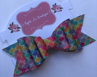 Colorful mermaid bow