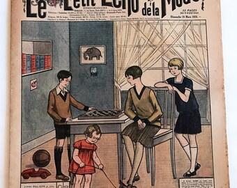 1920's French Magazine FASHION  Le Petit Echo de la Mode March 18 1928