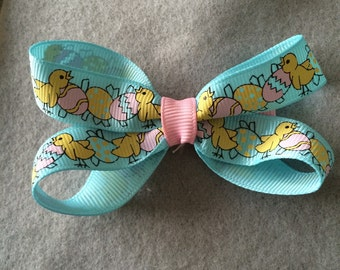 Easter Chick Hairbow