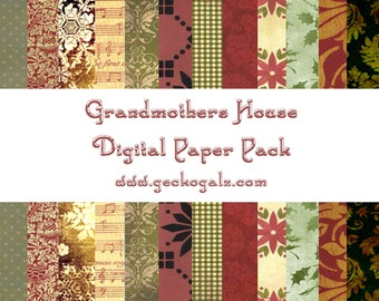 Grandma's House Digital Paper Pack