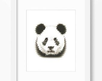 Panda Print, Panda Art, Panda Wall Print, Geometric Panda Print, Wall Print, Polygonal Panda Print, Panda Face, Geometric Panda, Panda