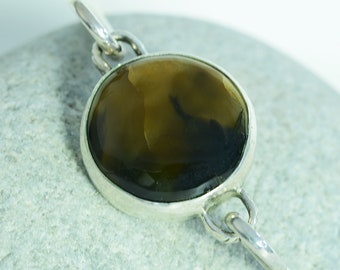 """""""Dark and Stormy"""" Sterling Silver Everyday Bangle"""