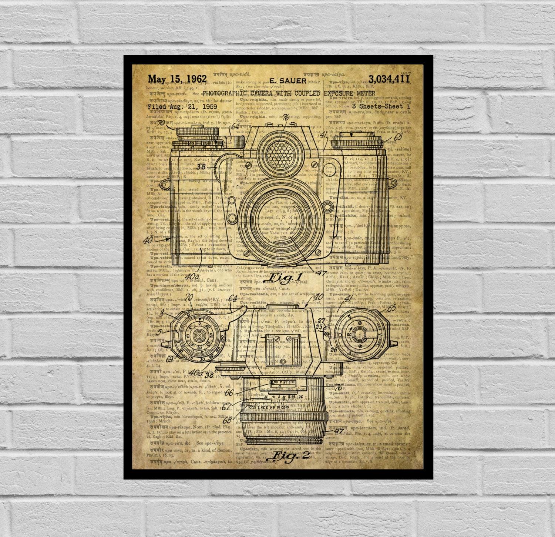 Camera Poster, Vintage Camera Patent, Vintage Camera Print ...