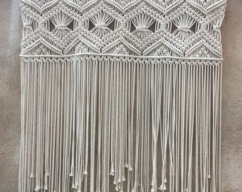 Large macrame wall hanging, macrame headboard, Home Decor tapestry, Bohomian home decor, boho wall art, Wedding decor, macrame curtain