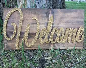Welcome Sign, String Art Decor, Rustic Wall Sign, Rustic Welcome Sign, String Art Welcome, Housewarming Gift, New Home Gift, Wall Art
