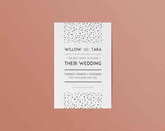 Personalised save the date wedding cards | Save the date wedding invitations | Custom save the date postcards | Gatsby wedding invitations