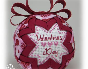 Valentine's Quilted Ornament - Valentine's Ornament