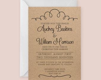 Tafel-Hochzeit-Einladung-Vorlage für Word oder Seiten