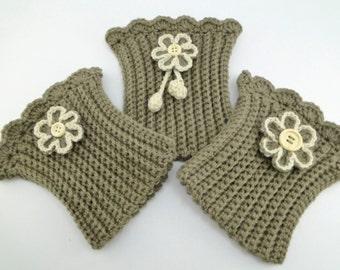 Womens Boot Cuffs, Boot Cuffs, Boot Cuffs Wool, Boot Cuffs Crochet, Boot Cuffs Women, Crochet Boot Cuffs, Flowers Boot Cuffs / Sandycraft
