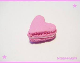 Fimo cabochon polymer heart macaron treats