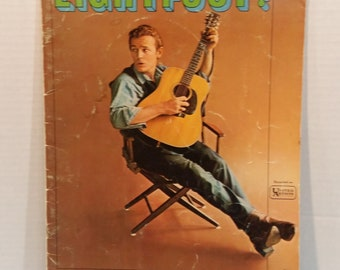 Vintage Gordon Lightfoot Music Book Guitar Vocal Piano Tab LightFoot  10 Songs 1964 By M Whitmark & Sons New York
