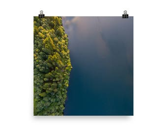 Norwegian Forest + Lake - Photo Print