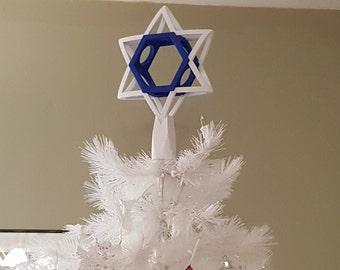 Items Similar To Lighted Star Of David Tree Topper