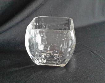 Glass textured votive cup