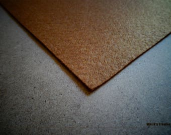Brown felt square clear 5x5cm ideal for your creations