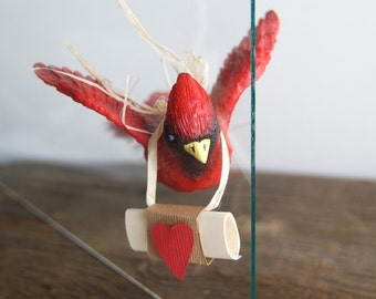 Cardinal Pregnancy Announcements »Pregnancy Announcement Ideas »  A Little Bird Told Me » Grandparents Gift