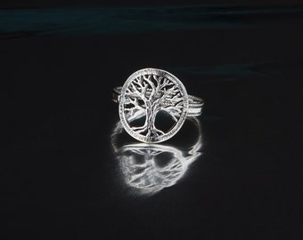 Tree of life, Silver tree of life ring, Tree ring, Silver ring, Tree of life ring, Dainty tree of life, Unique tree of life ring, Hand made