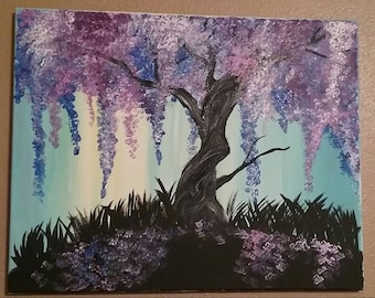 Colorful willow tree