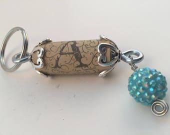 Embellished Wine Cork Key Chain