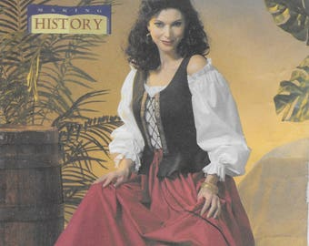 Butterick 4483 Making History Boned Corset, Pullover Top, and Flared Skirt Sewing Pattern Size 14 to 20 Bust 36 to 42 to 20 Bust