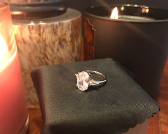 Quartz Engagement Ring