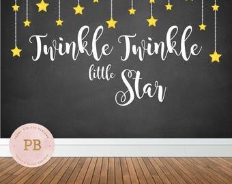 Digital Twinkle Twinkle Little Star Backdrop, Twinkle Little Star Birthday Backdrop, Twinkle Little Star Baby Shower Backdrop, Photo Booth