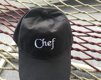 Chef Hat - Black Hat With White Letters