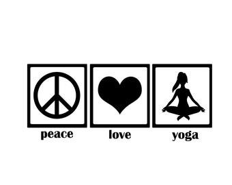 Assorted Namaste Yoga Decal Sticker FREE USA SHIPPING!