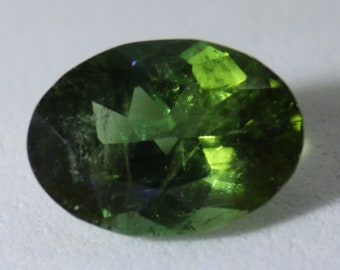 Green Tourmaline 3.30ct,Oval,8th Wedding Anniversary Gem,October Birthstone,VS Clarity,Unheated,Untreated,Sourced Tanzania