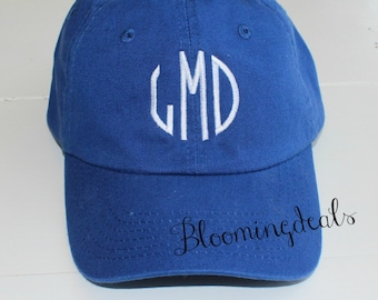 Youth Baseball Cap Personalized Hat Royal Blue, Monogrammed Hat