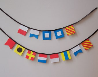 Happy Birthday Banner, Maritime Signal Flag Bunting, Birthday Backdrop, Cake Smash Banner