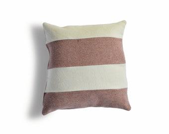Pink and Cream Pendleton Wool Pillow