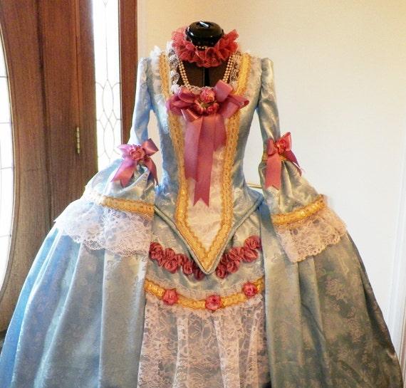 Marie Antoinette Dress,Marie Antoinette Costume, Marie Antoinette Halloween Costume, Bastille Day,Carnival, Ball, Mardi Gras,Venice,Panniers