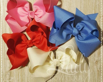 A Very Merry Make Believe Hair-bow Bundle~Made to match Matilda Jane's holiday collection ~hair-bows for girls-baby bows~custom hair-bows~~~
