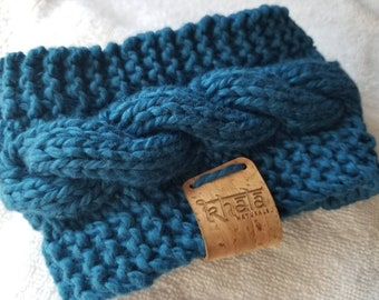 Organic cotton hand knit coffee or tea cup cozy