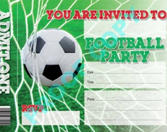 FOOTBALL TICKET INVITATION kids party birthday invite