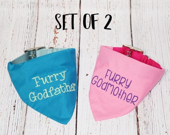 Pregnancy Announcement - Baby Announcement -Custom Dog Bandana - Baby Reveal - Big Brother Bandana -Furry Godmother- Furry Godfather Bandana