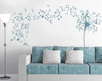 Musical Dandelion Wall Decal Sticker Art